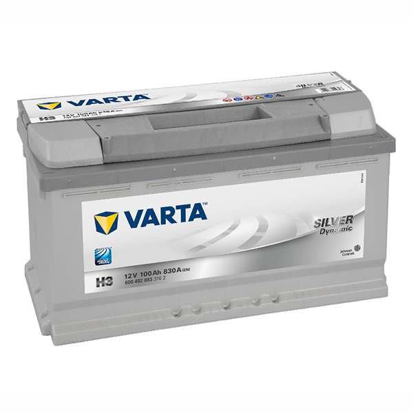 VARTA German Made 12v Car battery H3, 600 402 083, DIN92/110 (FREE DELIVERY, no Rural tickets)