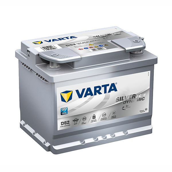 varta agm silver 12v car battery 560 901 068 d52 din55lh. Black Bedroom Furniture Sets. Home Design Ideas