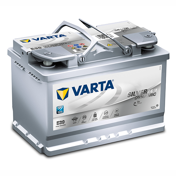 VARTA AGM/SILVER 12V Car battery 570 901 076, E39, DIN66LH (Cycling and/or starting)