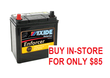 Car Battery ENS40ZMF EXIDE ENFORCER BATTERY (NS40)