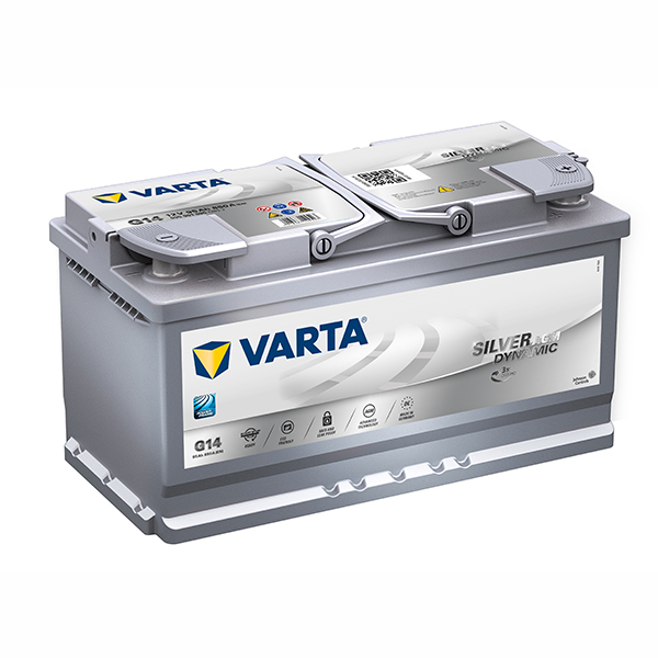 VARTA AGM/SILVER 12V Car battery G14, 595 901 085, DIN88H (Cycling and/or starting) (FREE DELIVERY, no Rural tickets)