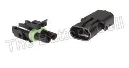 Waterproof Wire connectors 2-way Male + Female 20a PKT