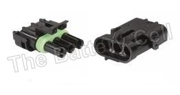 Waterproof Wire connectors 3-way Male + Female 20a PKT