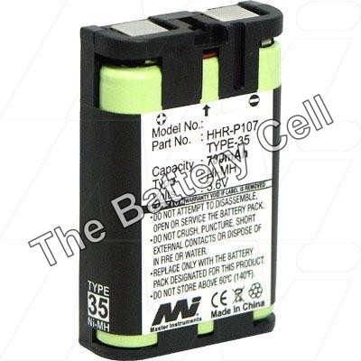 Panasonic BB-GT1500, 3.6V, Cordless Phone Battery Replacement