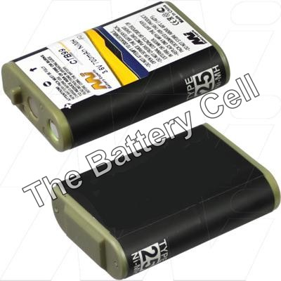 HHR-P103 Panasonic KX-TCA255AL Cordless Phone Battery Replacement, 3.6V