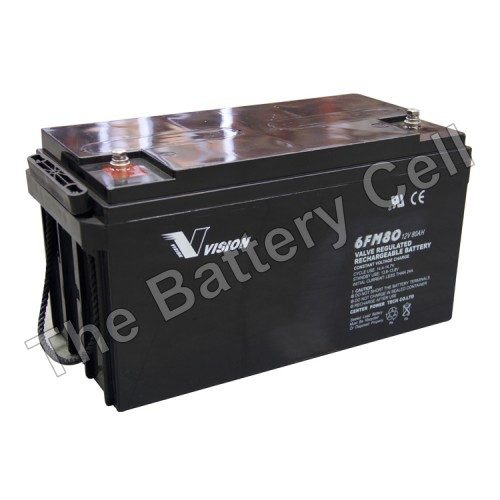 Vision 12v 80ah Battery (FREE DELIVERY, no Rural tickets)