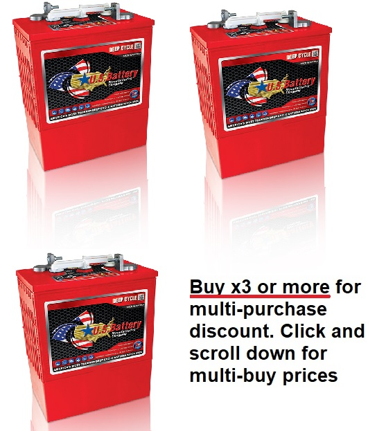 6V 385Ah US Battery Company battery with MULTI-BUY