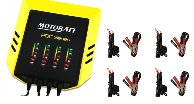 Battery Charger x4 output 12v 2A Charge + Maintain