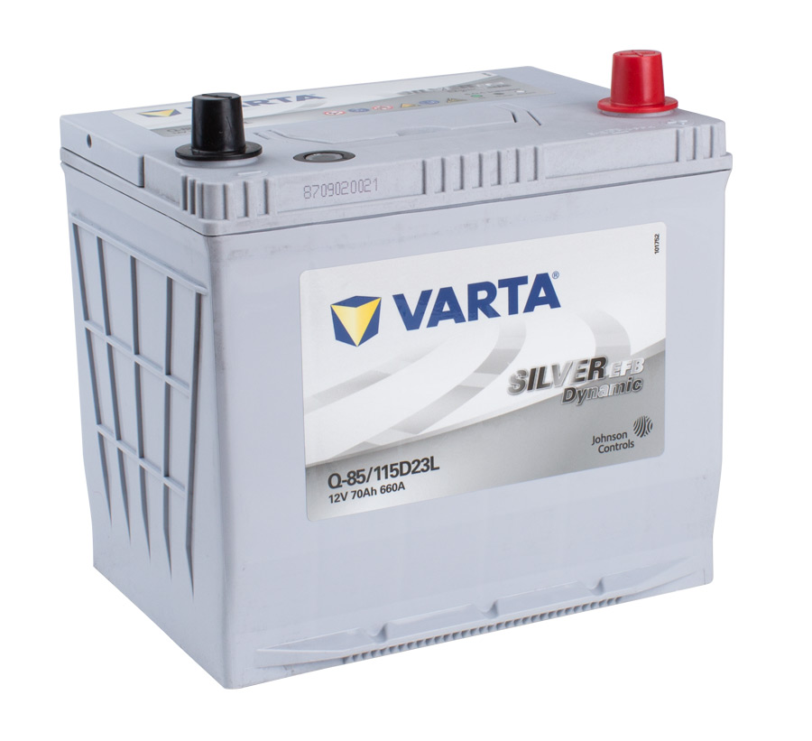 VARTA EFB 12v Car battery EV, SS, HP and Cycle, Q85LEFB/155D23L (FREE DELIVERY, no Rural tickets)