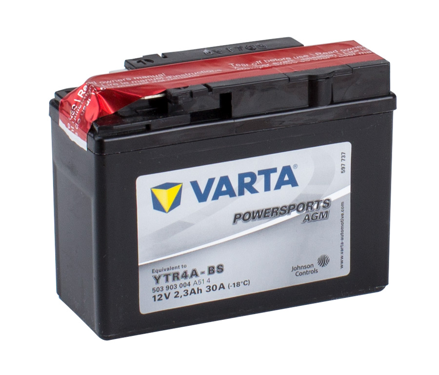 YTR4A-4 VARTA Powersports AGM Dry-cell Motorcycle battery 12v