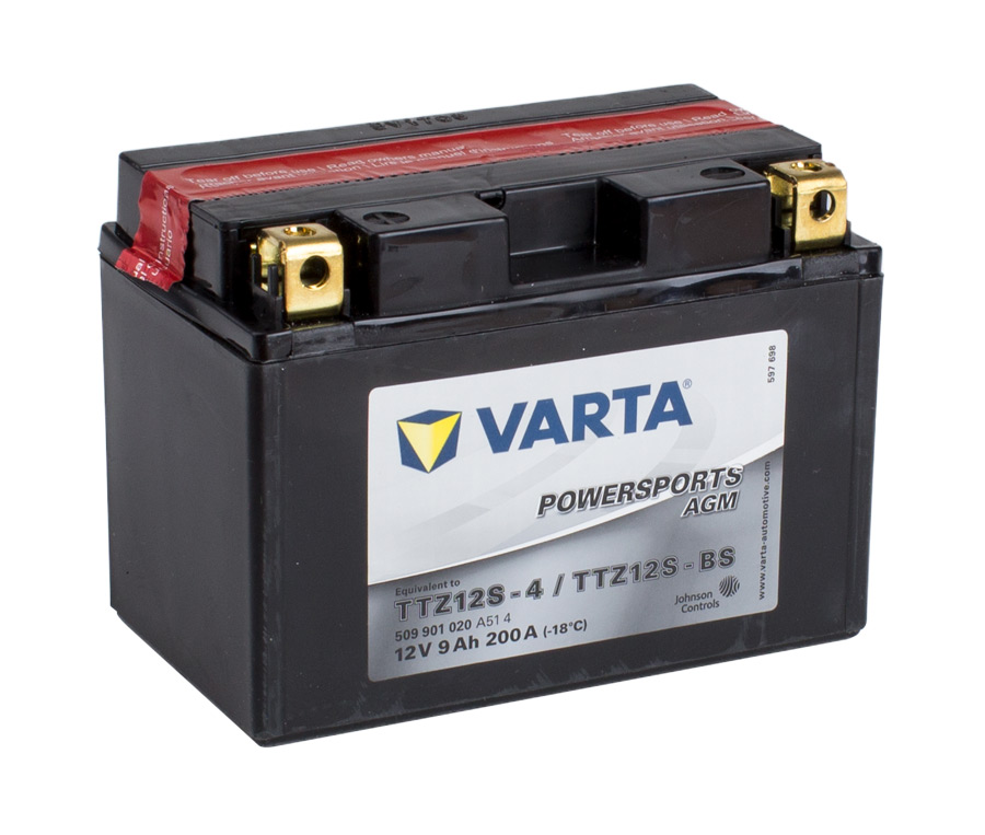 TTZ12S VARTA Powersports AGM Dry-cell Motorcycle battery 12v