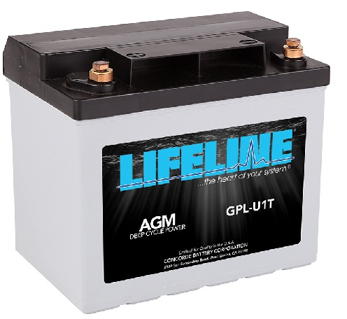 GPL-U1T 12V 33AH START-CYCLE LIFELINE BATTERY 275MCA