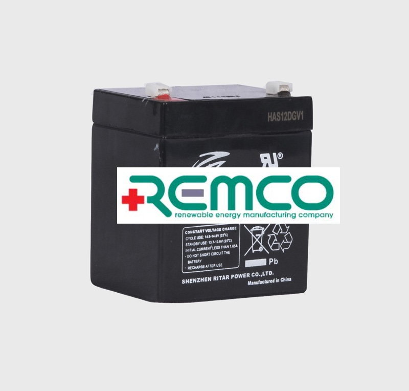 12V 5ah SLA, VRLA, AGM sealed Battery REMCO (FREE DELIVERY, no Rural tickets)