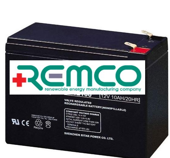 12V 10ah SLA, VRLA, AGM sealed Battery REMCO (FREE DELIVERY, no Rural tickets)