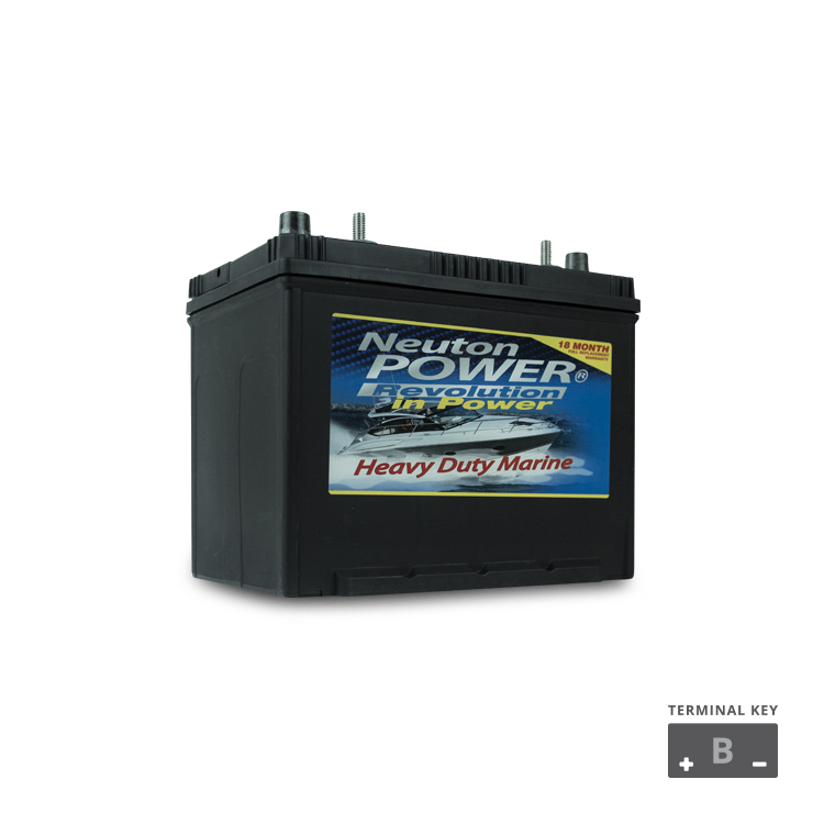 M24 sized Marine Start Battery 12v 750cca