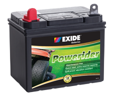 U1RMF EXIDE POWERIDER 12v Lawn Mower Start Battery 340cca (no Rural tickets)