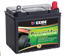 U1LMF EXIDE POWERIDER 12v Lawn Mower Start Battery 340cca (no Rural tickets)