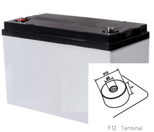 12v 120ah AGM Battery (410mm long) (FREE DELIVERY, no Rural tickets)