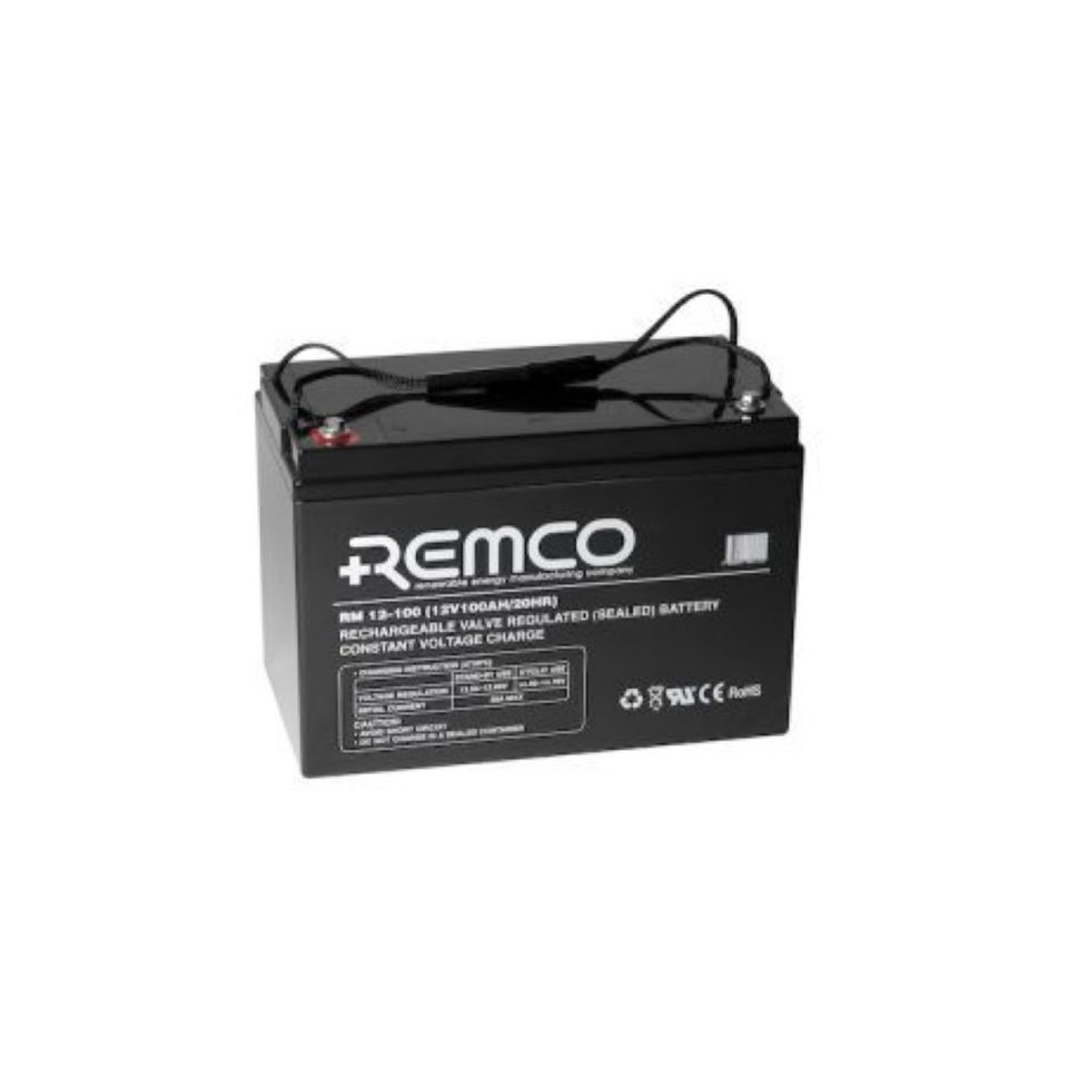 12V 100ah SLA, VRLA, AGM sealed Battery REMCO (FREE DELIVERY, no Rural tickets)