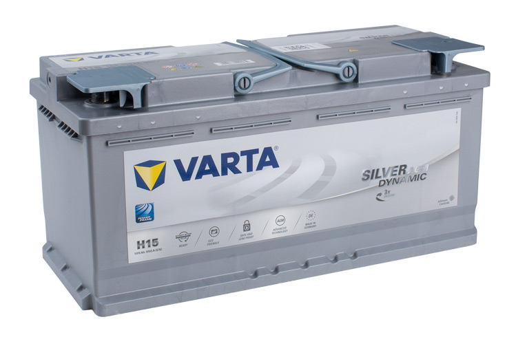 VARTA AGM/SILVER 12V Car battery H15, 605 901 095, DIN110LAGM BATTERY 950CCA Cycling and/or starting (FREE DELIVERY, no Rural tickets)