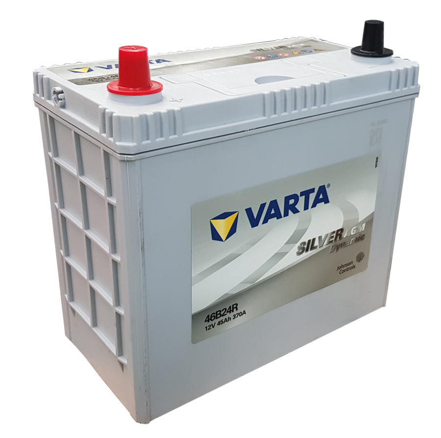 VARTA AGM/SILVER 12V Car battery 46B24R (Cycling and/or starting) (FREE DELIVERY, no Rural tickets)