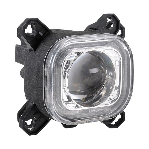 90MM SQUARE LED HIGH BEAM LAMP WITH DIR IND AND POSITION RING -single (free delivery)