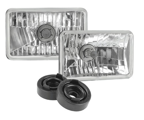 Halogen Headlamp - H4 Conversion Kit - 165 x 100mm High/Low Beam Free Form (free delivery)