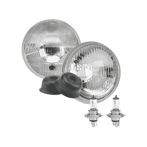 Halogen Headlamp - H4 Conversion Kit (Raised Glass) - 5 3/4' High/Low Beam Free Form (free delivery)