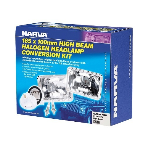 Halogen Headlamp - H1 55W Conversion Kit - 165 x 100mm High Beam Free Form (free delivery)