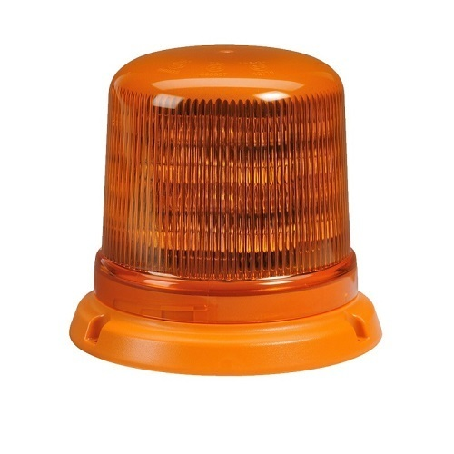 Narva Eurotech AMBER L.E.D Strobe/Rotator, 6 Selectable Flash Patterns, Flange Base CLASS 2 (free delivery)