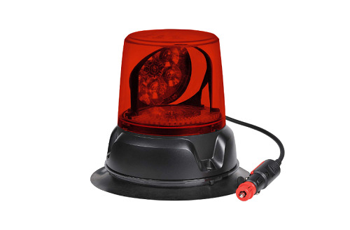 12/24V AEROMAX L.E.D ROTATING BEACON (RED) MAGNETIC BASE (free delivery)