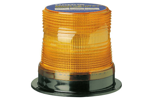 12-80V Single Flash Sonically Sealed Strobe Light (Amber) Flange Base (free delivery)
