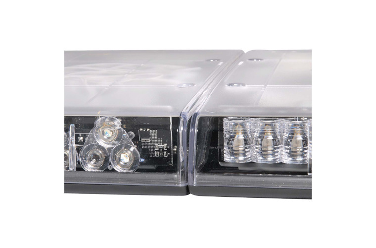 12V Legion Light Bar (Amber, Clear Lens) with built-in Alley lights and Take down lights - 1.4m (free delivery)