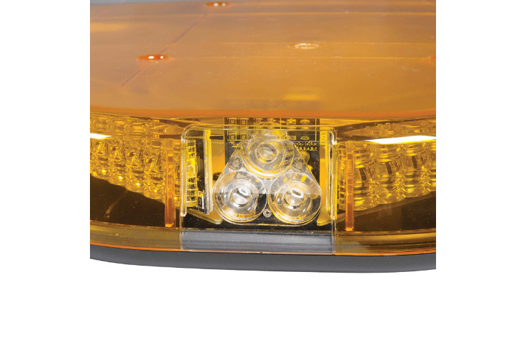 12V Legion Light Bar (Amber, Illuminated Opal Centre) with built-in Alley lights - 1.2m (free delivery)