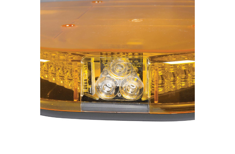 12V Legion Light Bar (Amber, Clear Lens, Illuminated Opal Centre) with built-in Alley lights - 1.7m (free delivery)