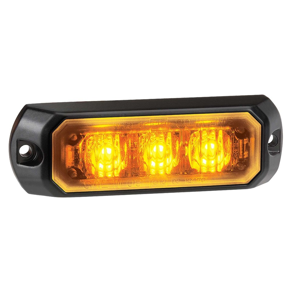 Low Profile High Powered L.E.D Warning Light (Amber) - 3 x 1 Watt L.E.Ds (free delivery)