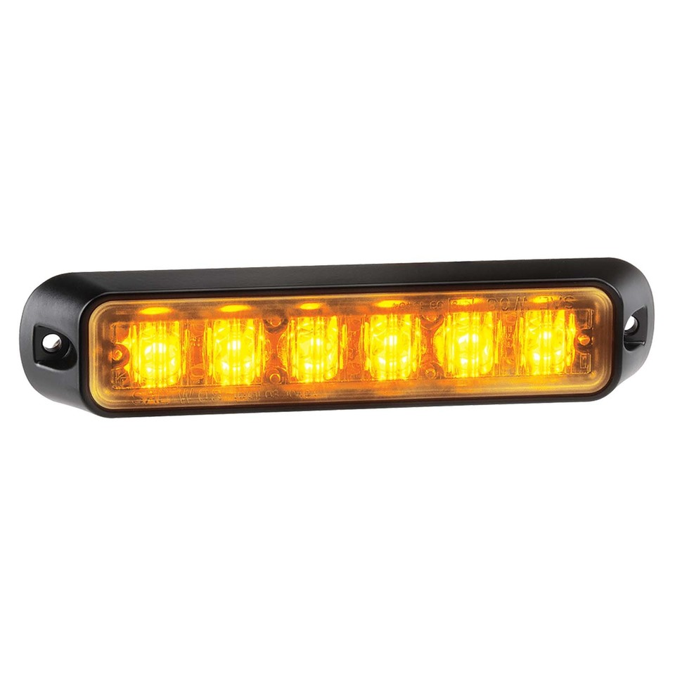 Low Profile High Powered L.E.D Warning Light (Amber) - 6 x 1 Watt L.E.Ds (free delivery)