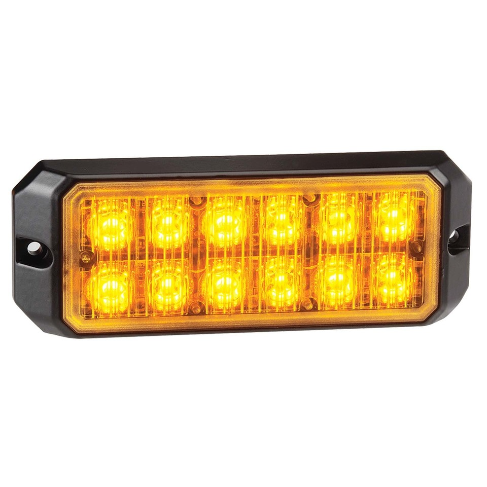 Low Profile High Powered L.E.D Warning Light Module (Amber) - 12 x 1 Watt L.E.Ds (free delivery)