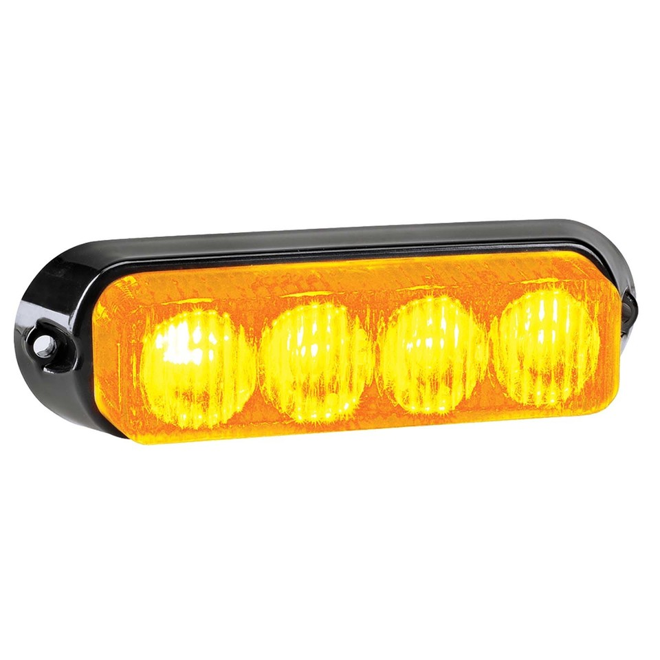 High Powered L.E.D Warning Light (Amber) - 4 x 1 Watt L.E.Ds (free delivery)