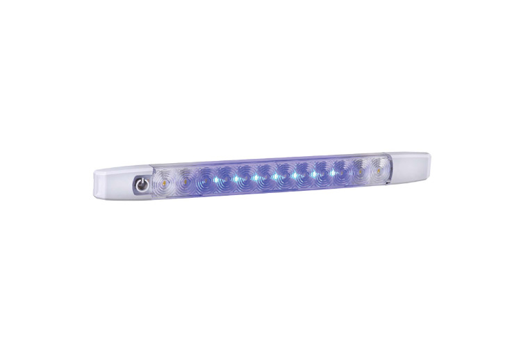 12V DUAL COLOUR L.E.D STRIP LAMP (WHITE/BLUE) WITH TOUCH SWITCH (FREE DELIVERY)