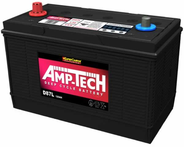 Deep Cycle 12V 120a/h Battery AMP-TECH (FREE DELIVERY, no Rural tickets)