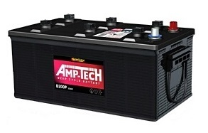 Deep Cycle 12V 200a/h Battery AMP-TECH (FREE DELIVERY, no Rural tickets)