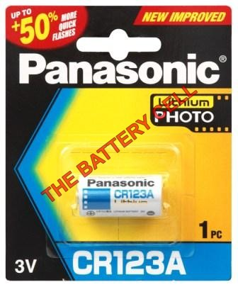CR123A Panasonic PHOTO Lithium Battery 3V