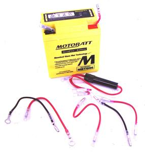 Motorcycle Battery 6 VOLT MBT6N6 Motobatt Quadflex Battery