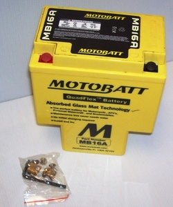 MB16A Motorcycle Battery Motobatt Quadflex Battery 12v