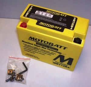 MBT12B4 Motorcycle Battery Motobatt Quadflex Battery