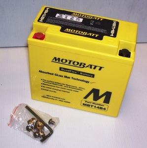 MBT14B4 Motorcycle Battery Motobatt Quadflex Battery