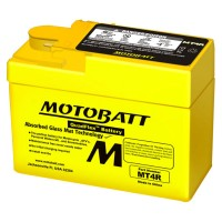 Motorcycle Battery MT4R Motobatt Quadflex Battery